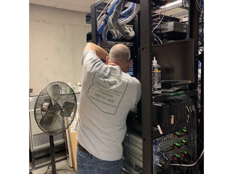 Wiring IT cabling for offices